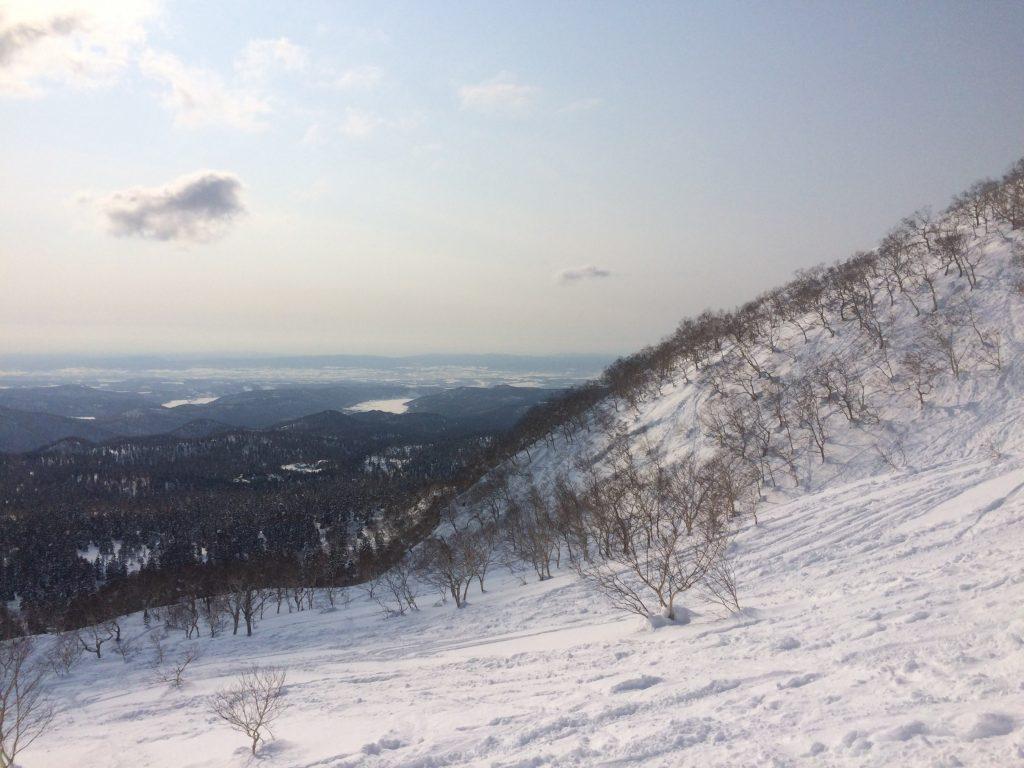 大雪山の斜面