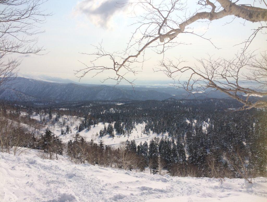 大雪山の青空