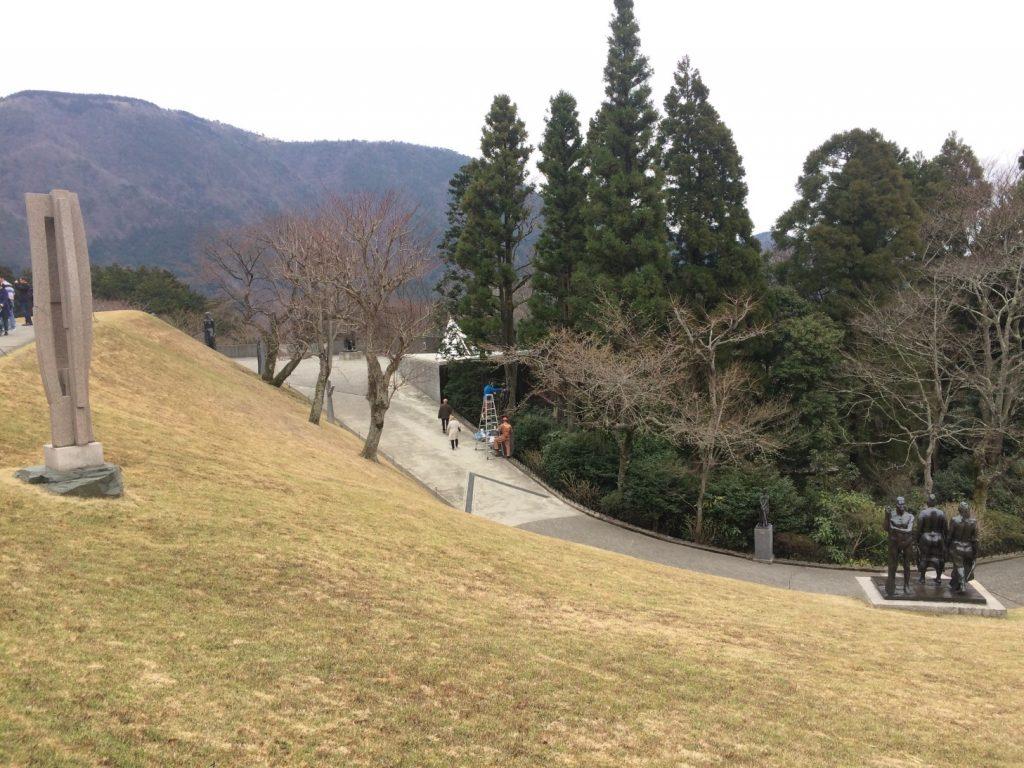 彫刻の森美術館の遊歩道