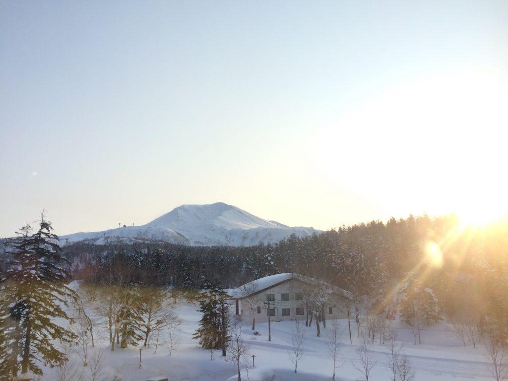 大雪山の朝焼け