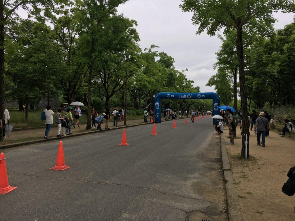 大阪城トライアスロンランコース