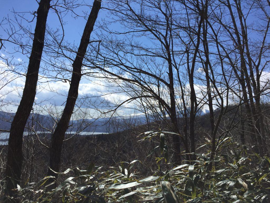 石割山トレイルと富士山