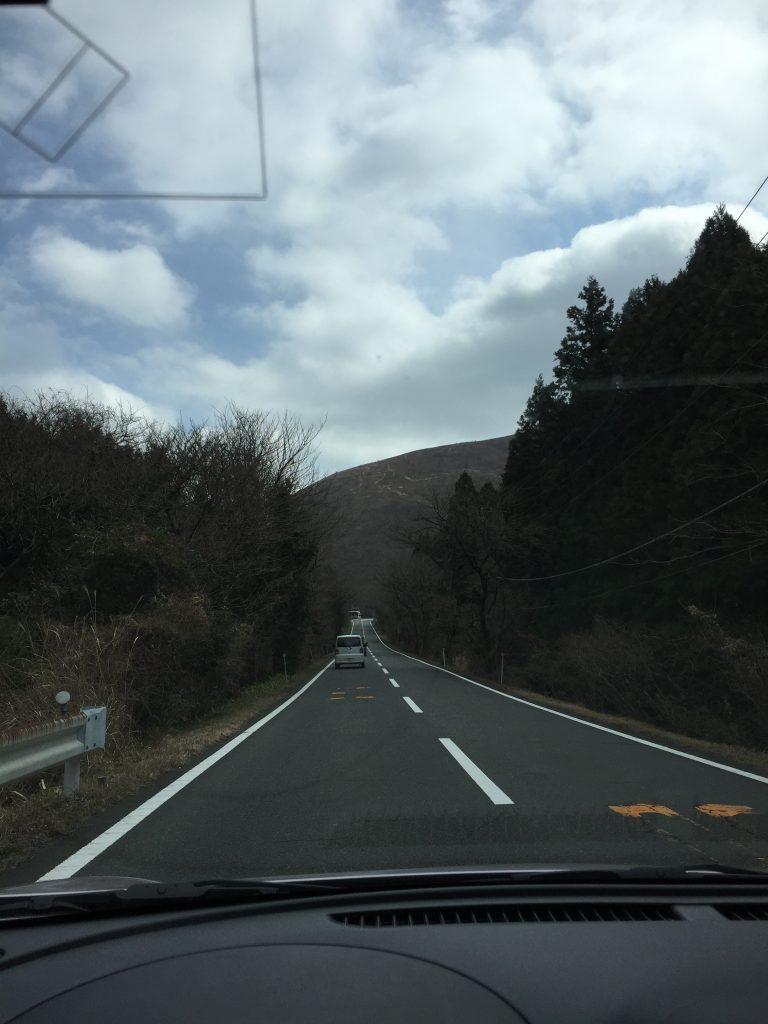 静岡県道13号線と大室山