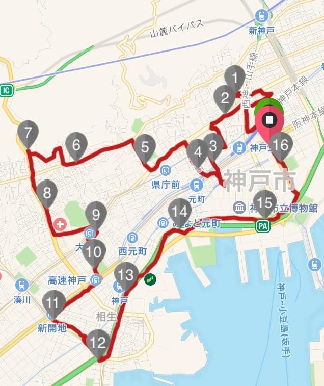 八社巡りコースマップ