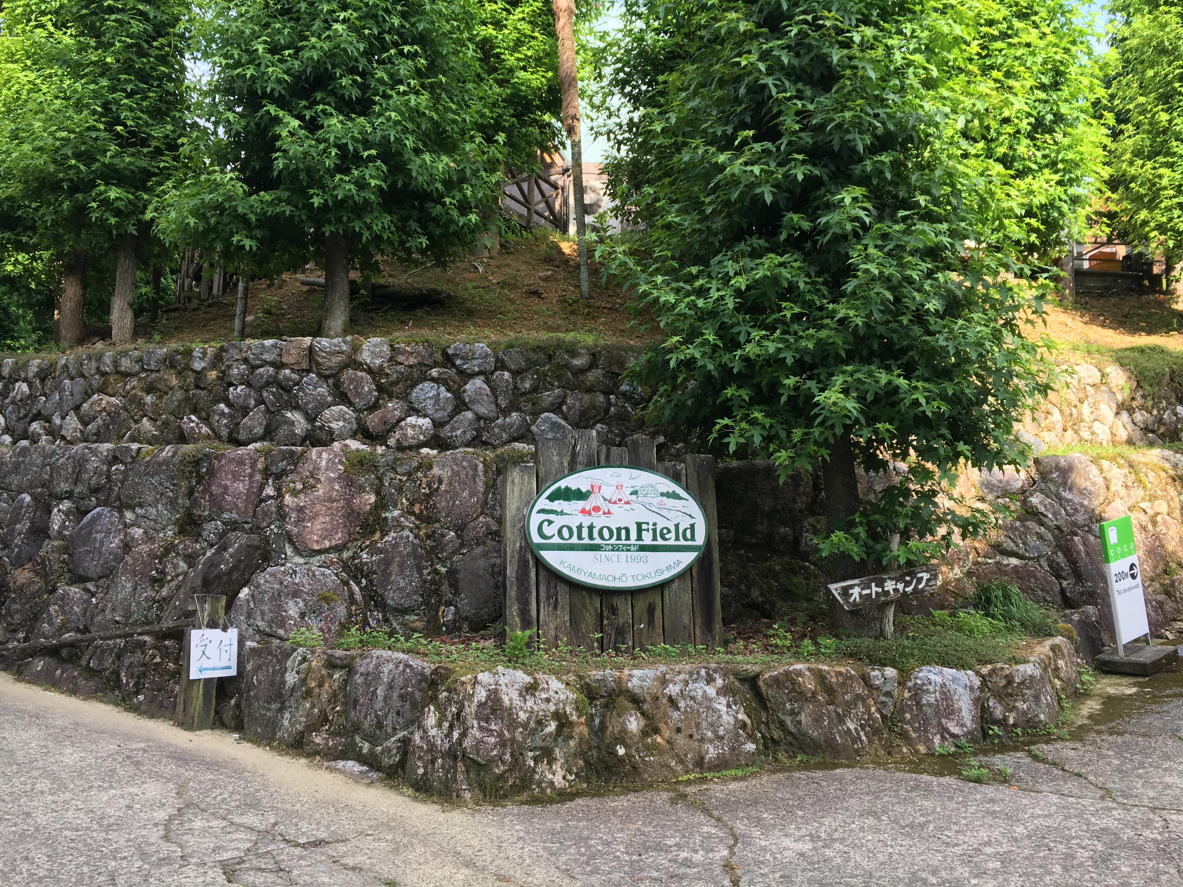 コットンフィールドの入り口
