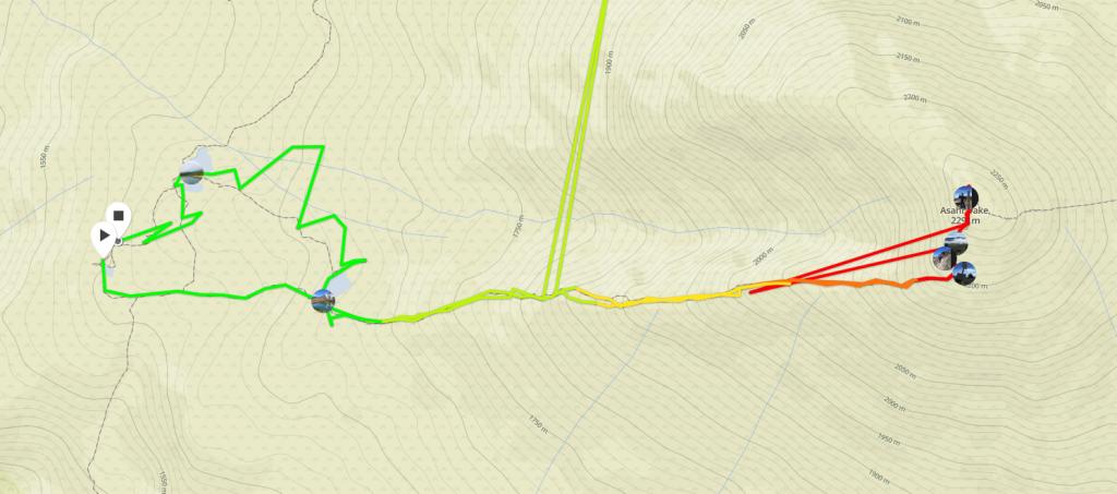 旭岳コース図