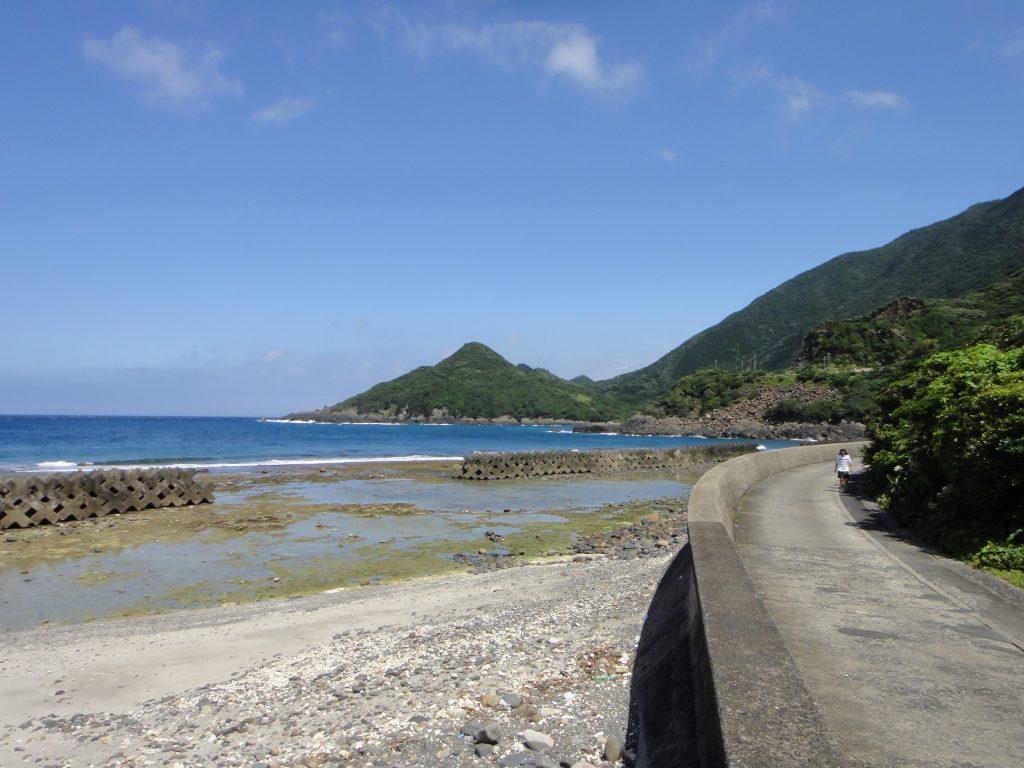 志戸子ガジュマル公園前の海岸