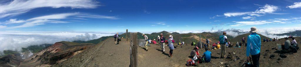 旭岳山頂のパノラマ
