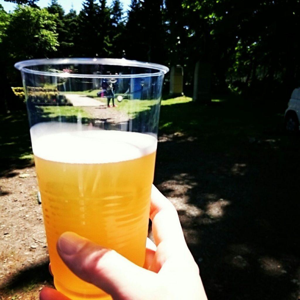 レース後のビール