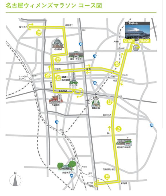 名古屋ウィメンズマラソンコース図
