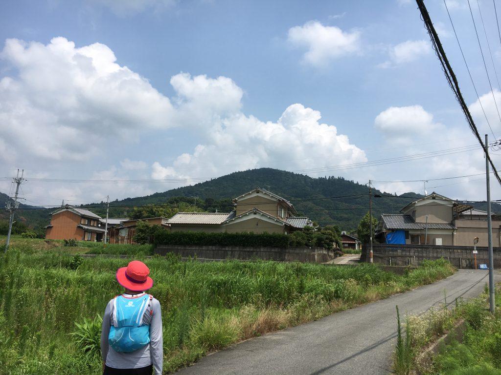 山の辺の道からの三輪山遠望