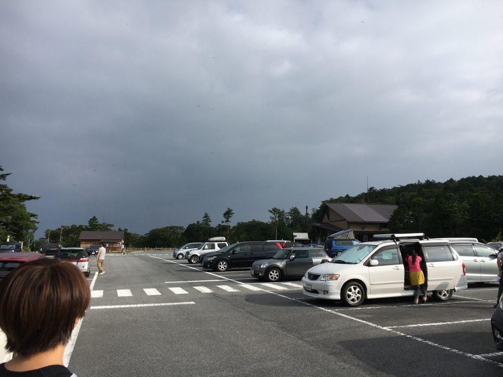 大台ケ原ビジターセンターの駐車場