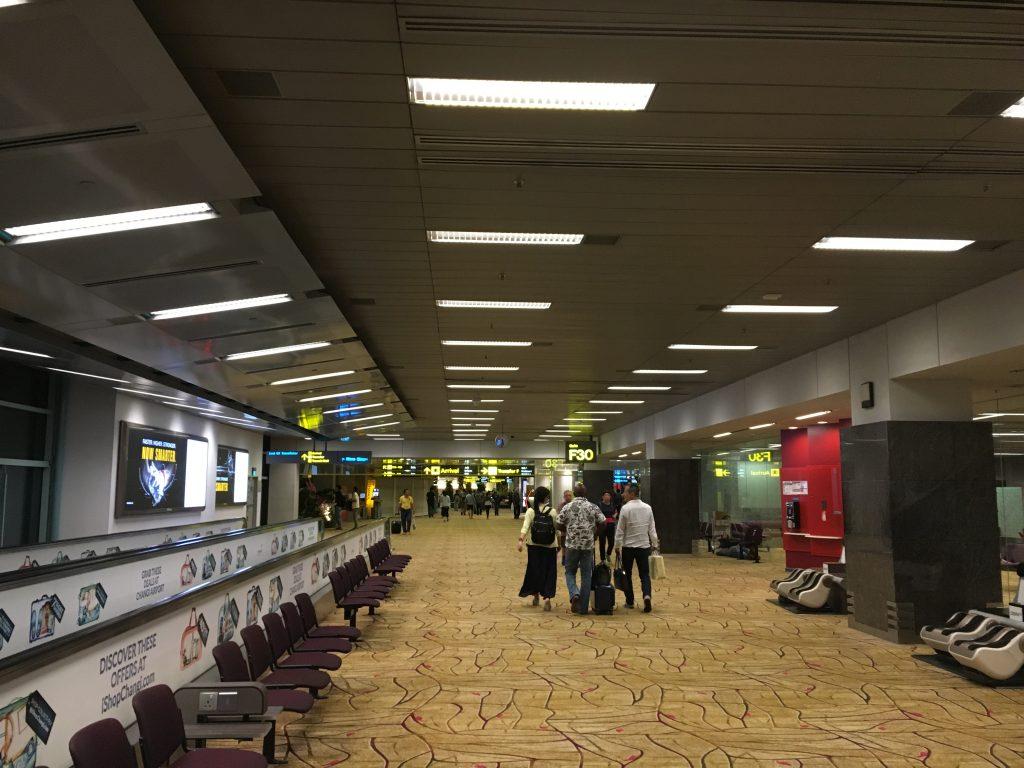 チャンギ空港の入国ゲート