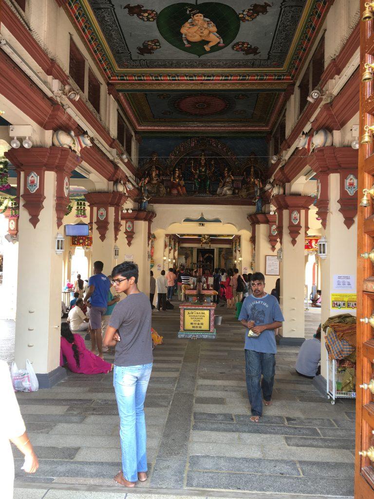 スリマリアマン寺院の中心部