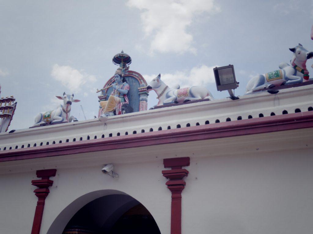 スリマリアマン寺院の屋根