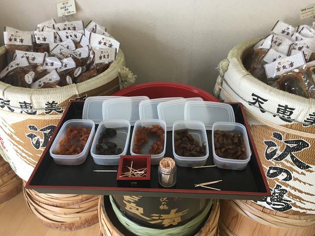 奈良漬の試食
