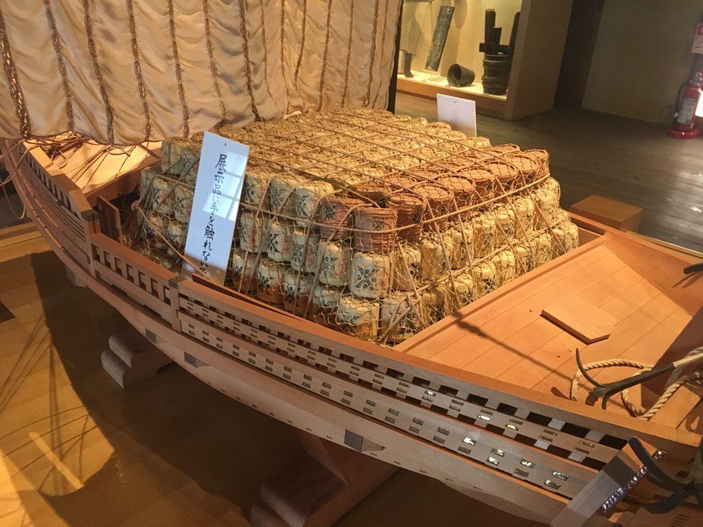 酒樽を運ぶ船2