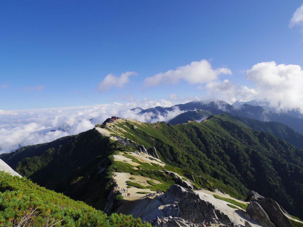 山頂からの燕山荘