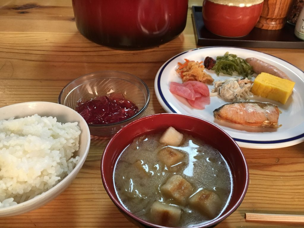 燕山荘の朝食