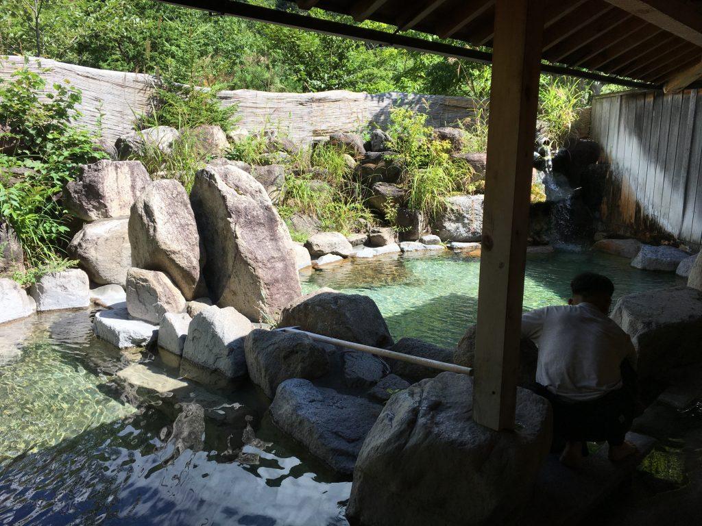 中房温泉の露天風呂