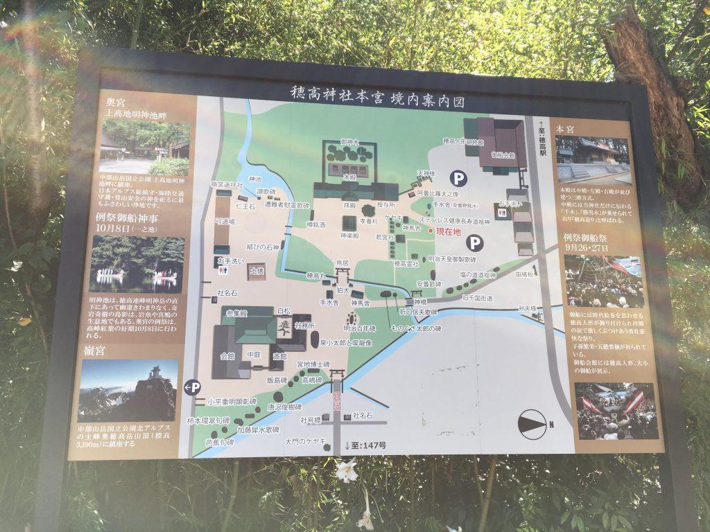 穂高神社の境内図