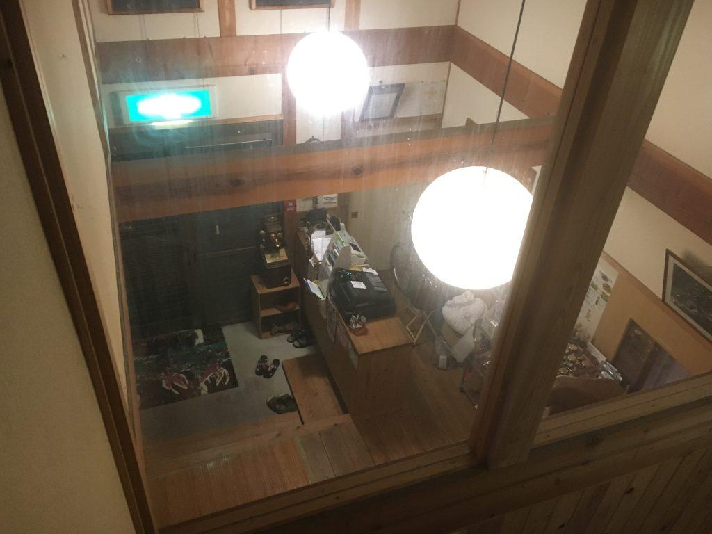 二階から帳場