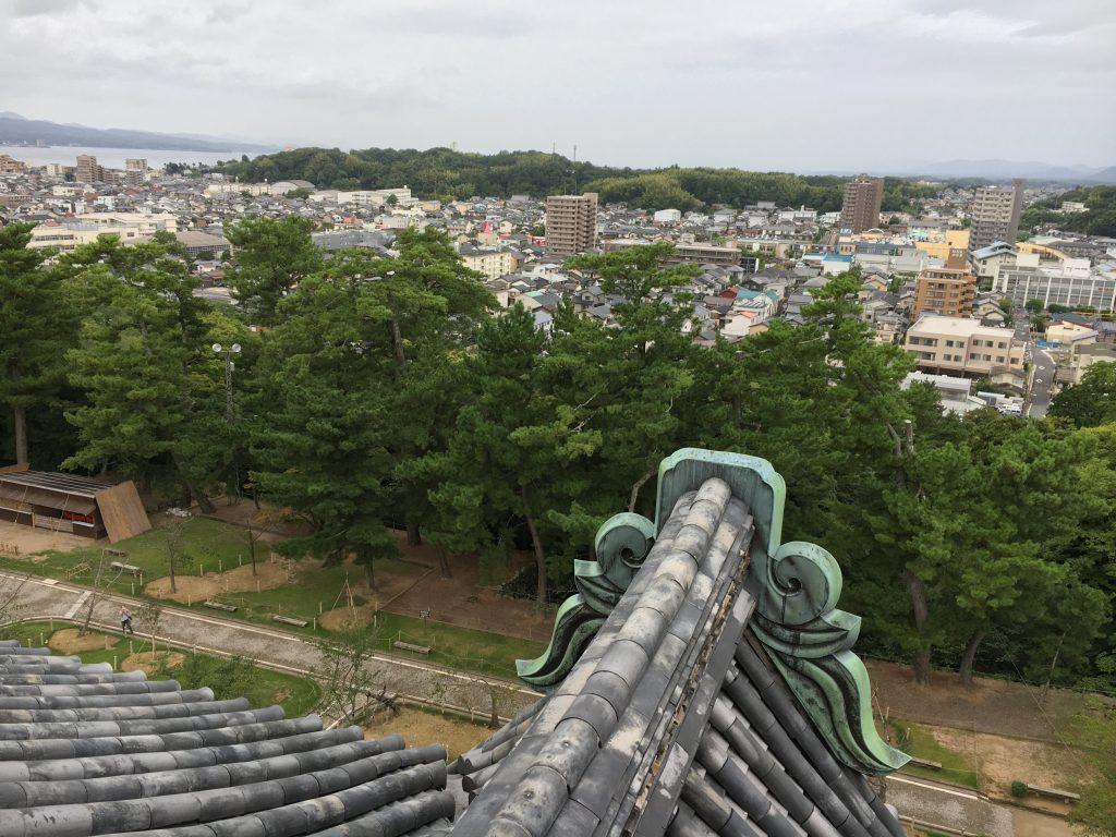 天守からの松江市内