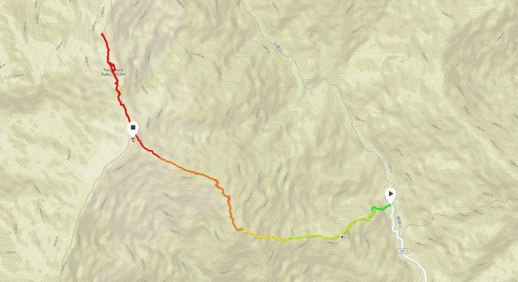 燕山荘GPSマップ