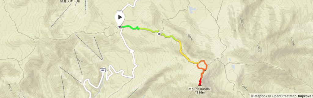 磐梯山GPSマップ