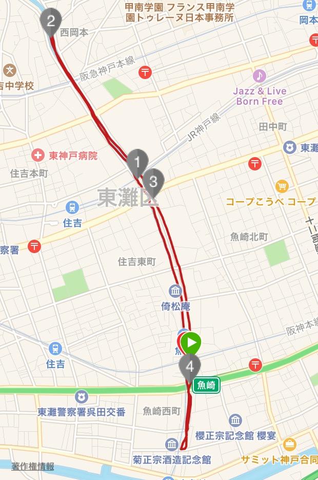 住吉川コース図
