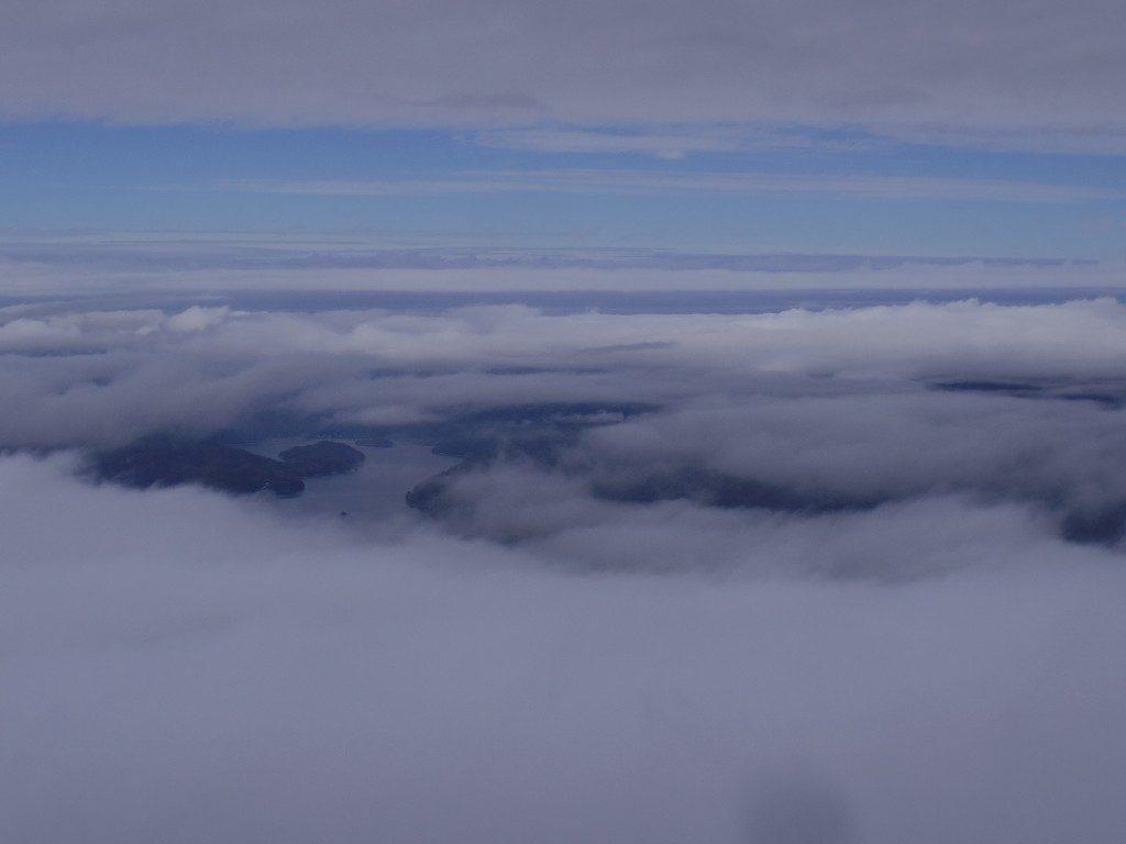 磐梯山山頂からの桧原湖