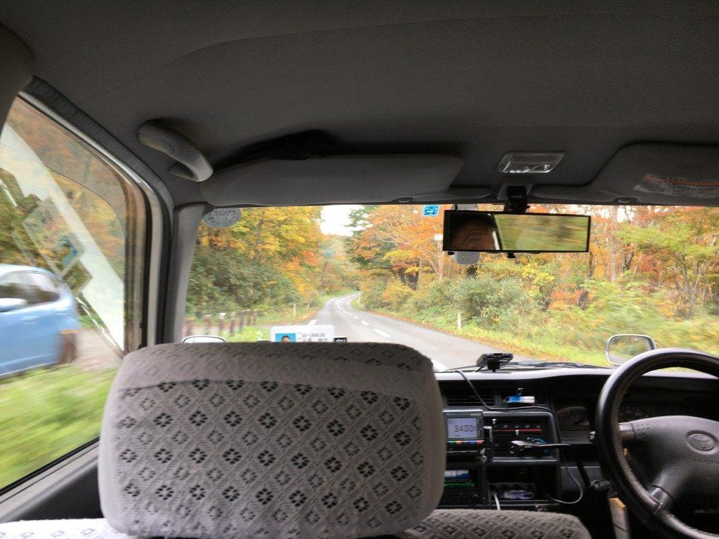 登山口までのタクシー