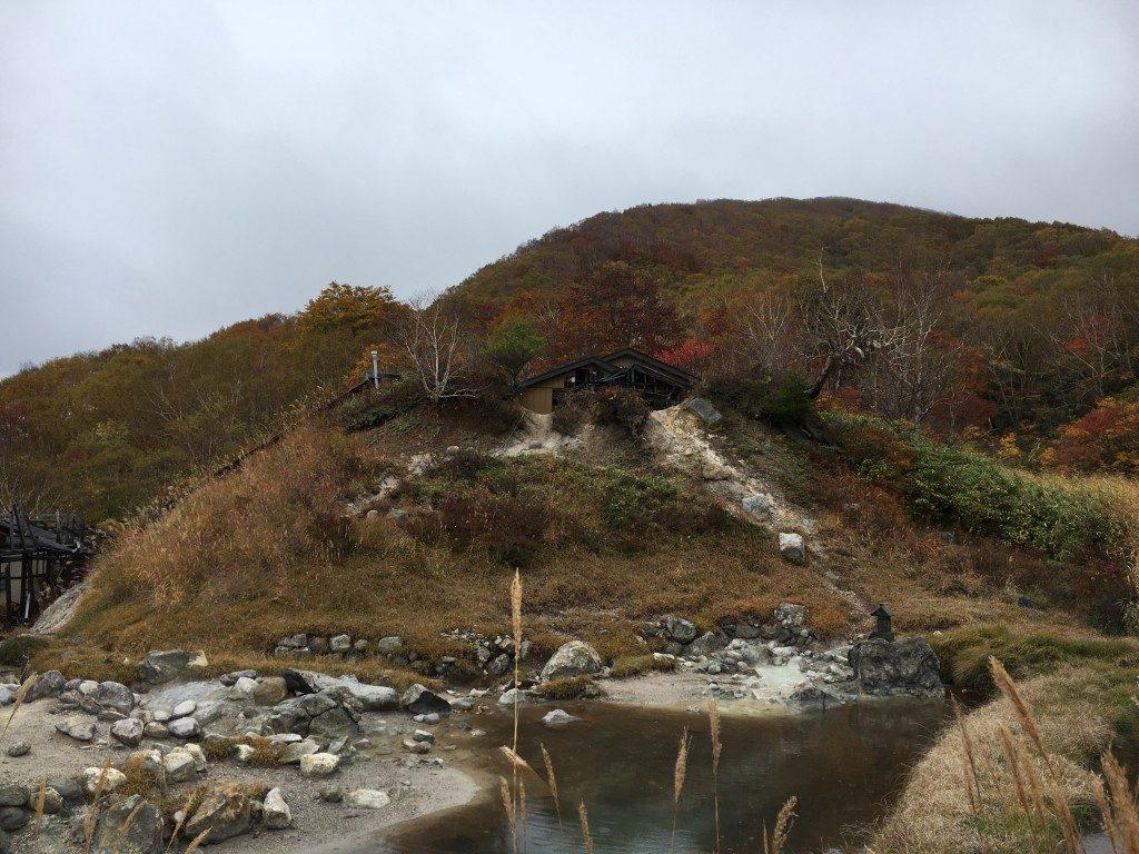 中ノ湯跡の温泉
