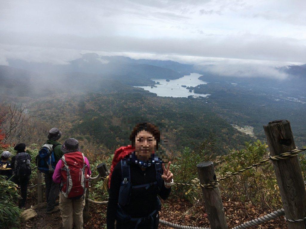 磐梯山から眺める桧原湖