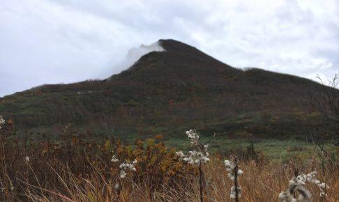 お花畑からの磐梯山