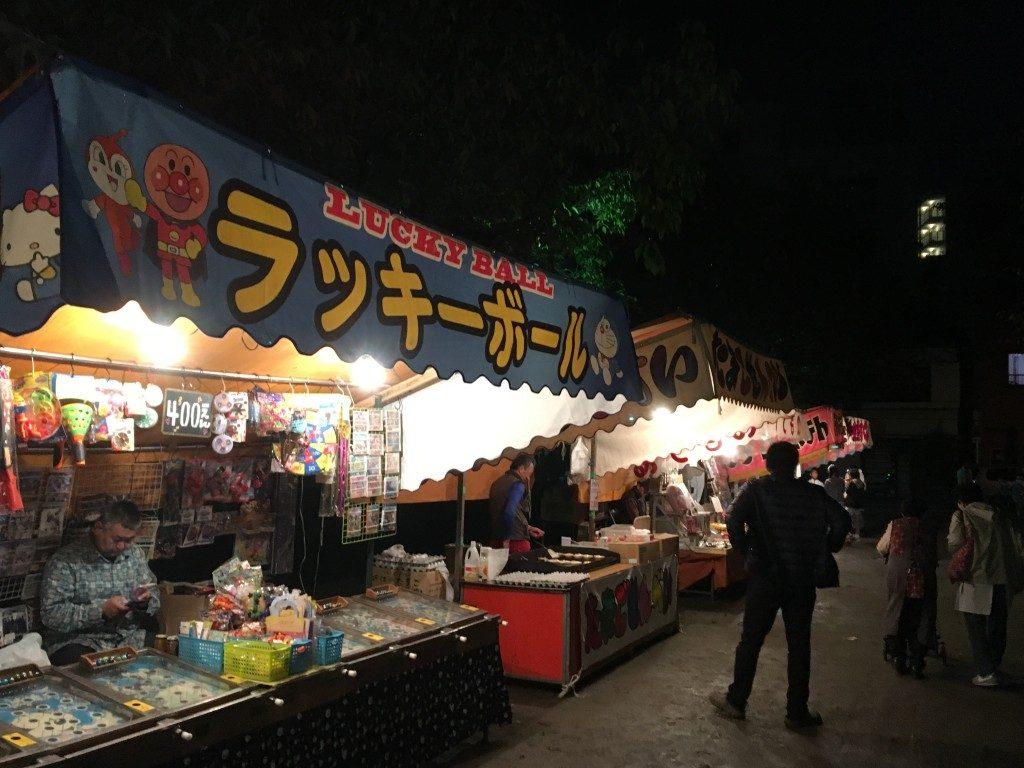 素盞烏尊神社 (浦江八坂神社)の祭りの出店