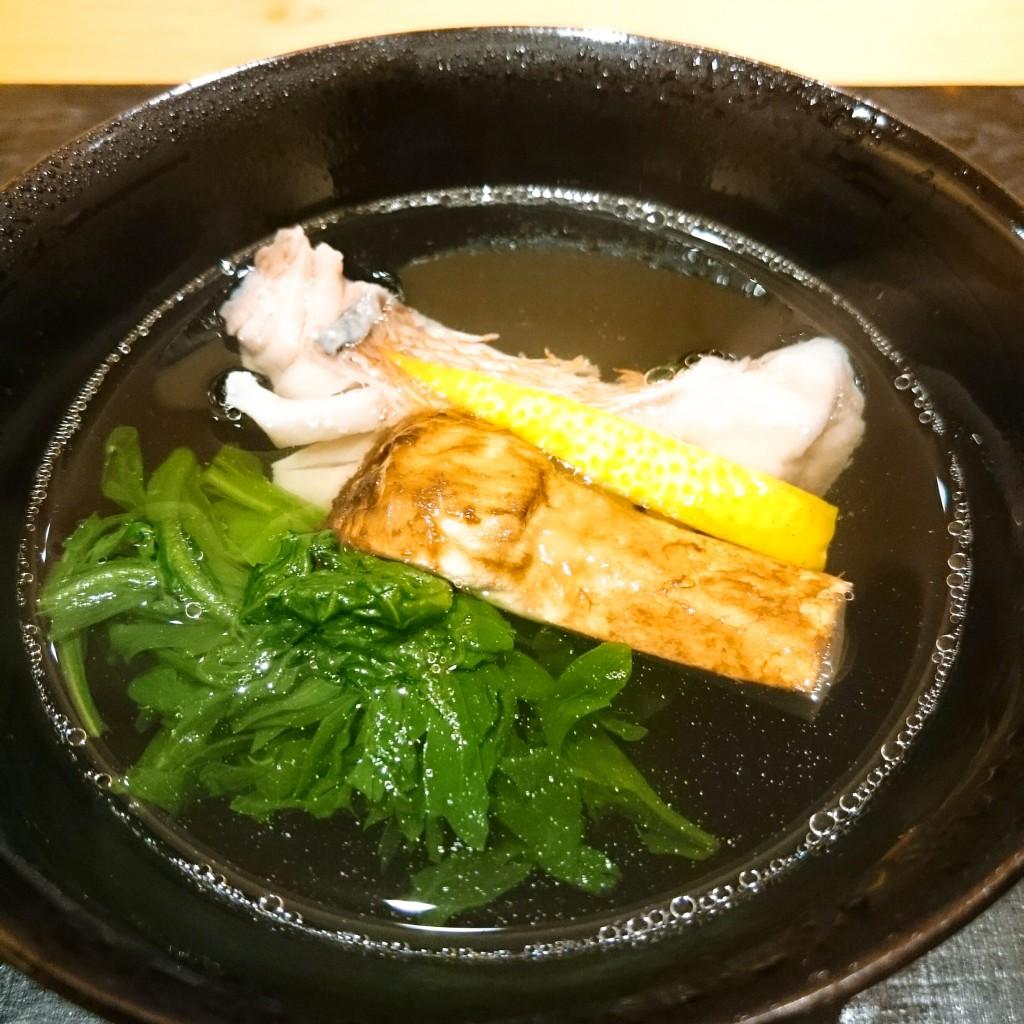 松茸と甘鯛