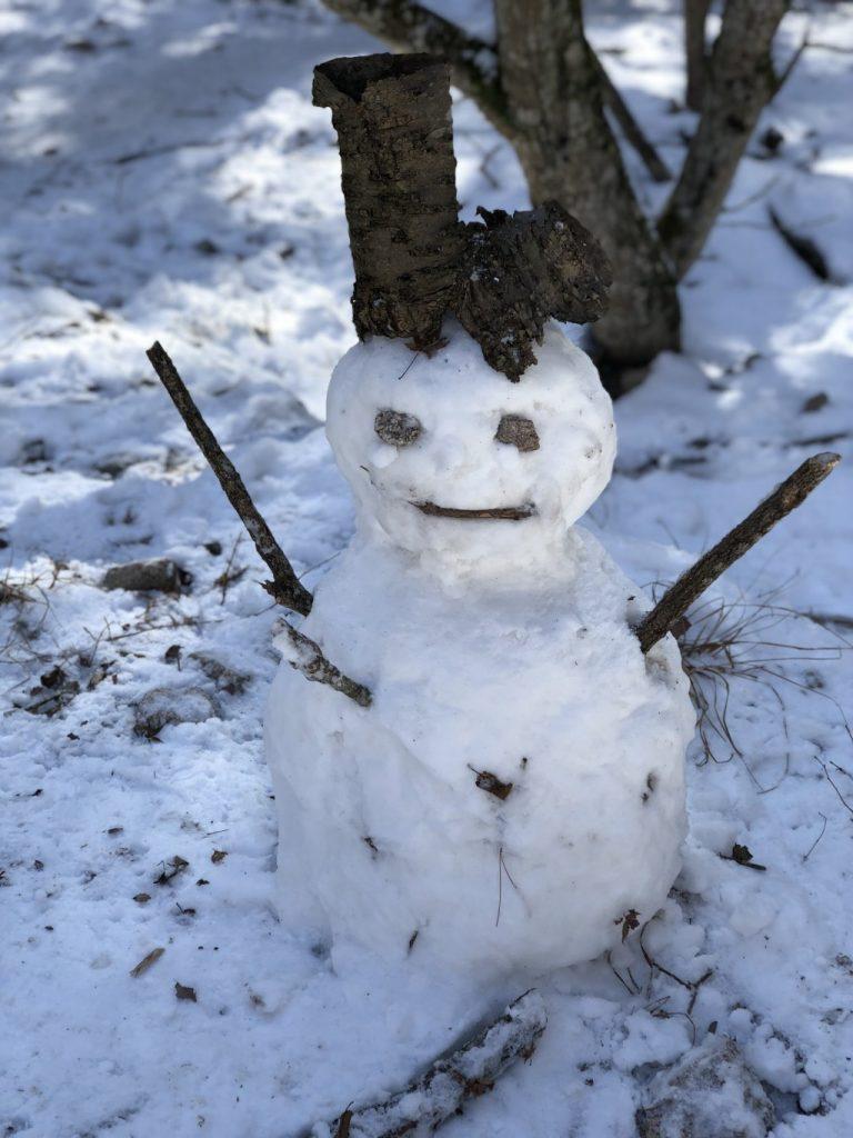 帽子と雪だるま