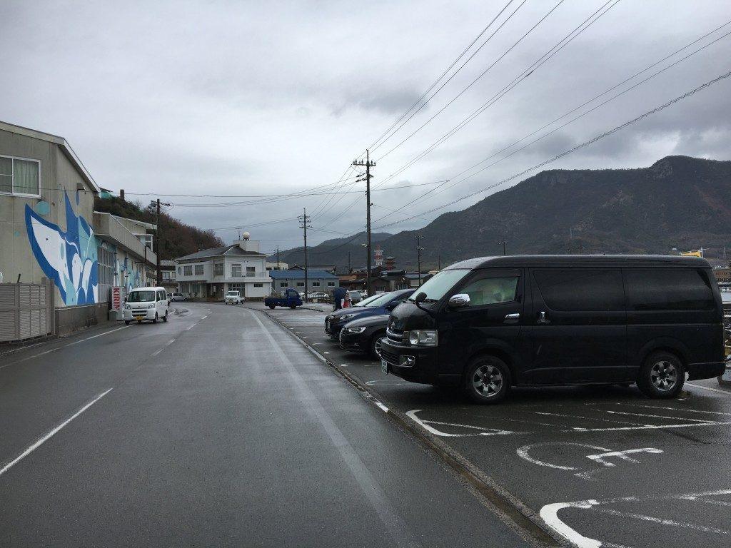 エンジェルロードの駐車場