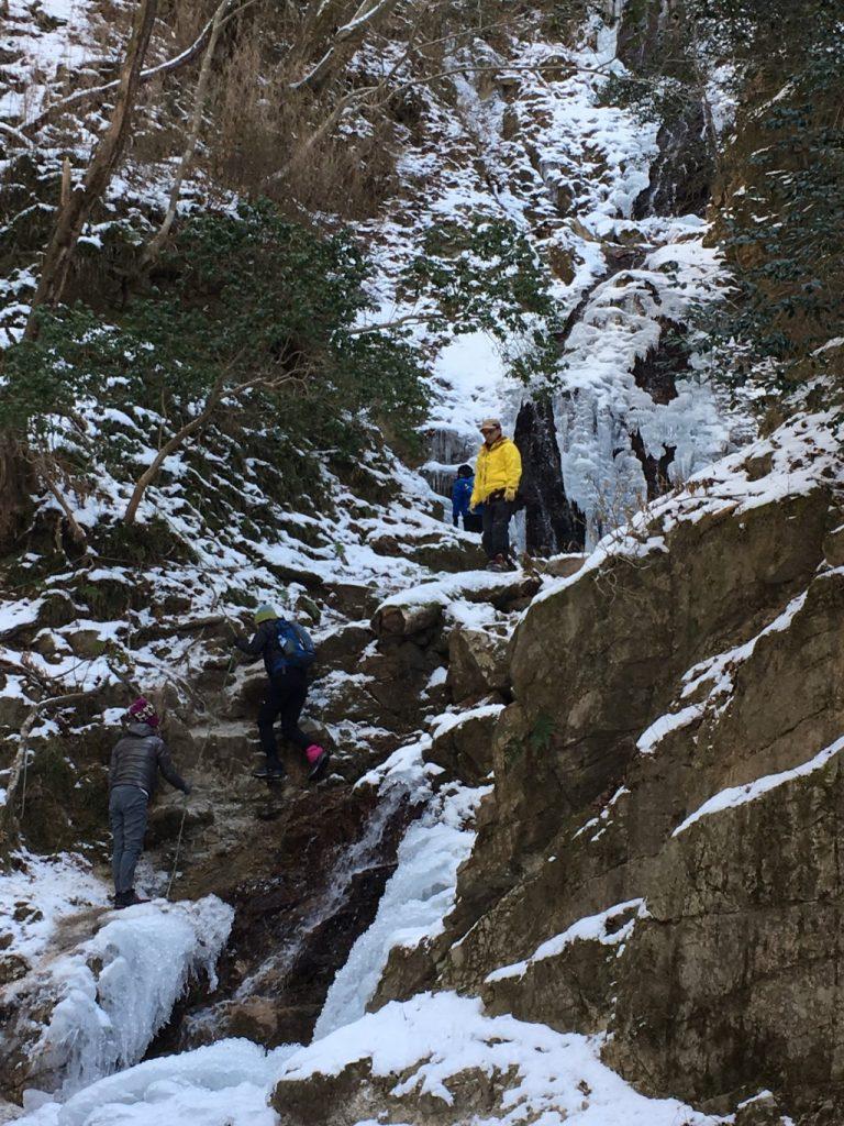 似位滝の氷瀑