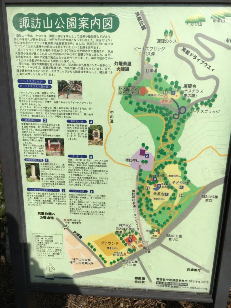 諏訪山公園案内図