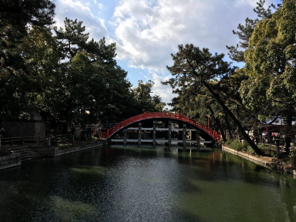 太鼓橋横からの眺め