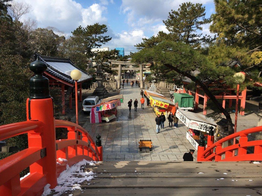 住吉反橋からの眺め