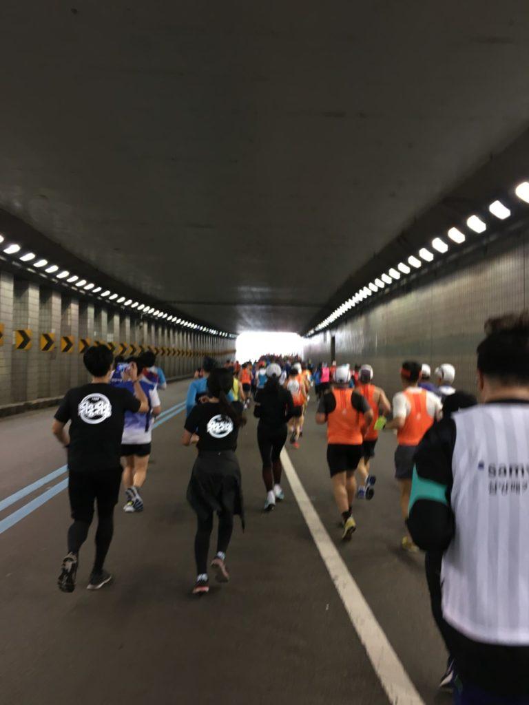 ソウルマラソンのコース風景