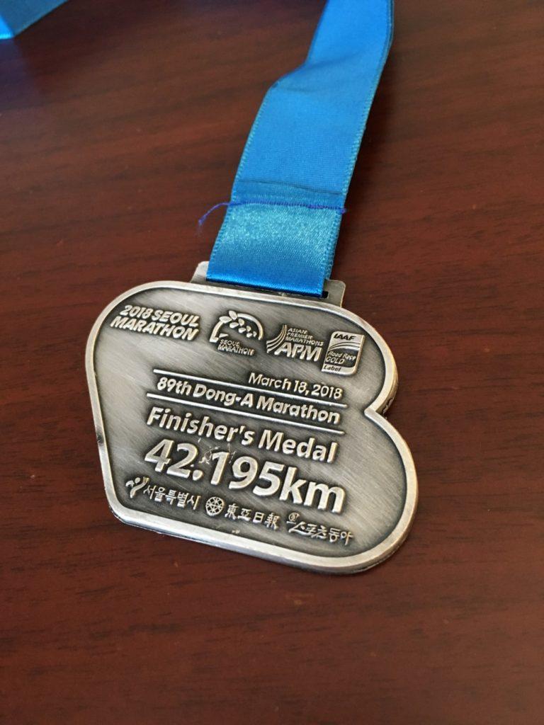 完走メダルの裏