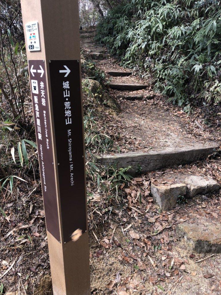 城山・荒地山標識