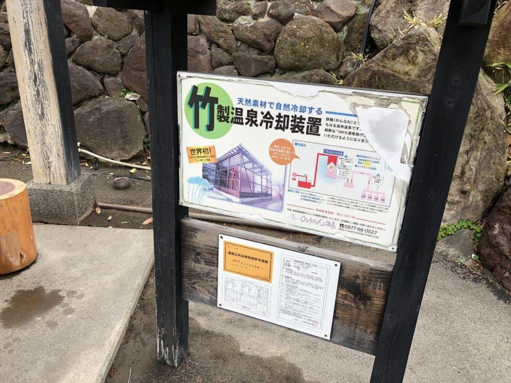 竹製温泉冷却装置の説明