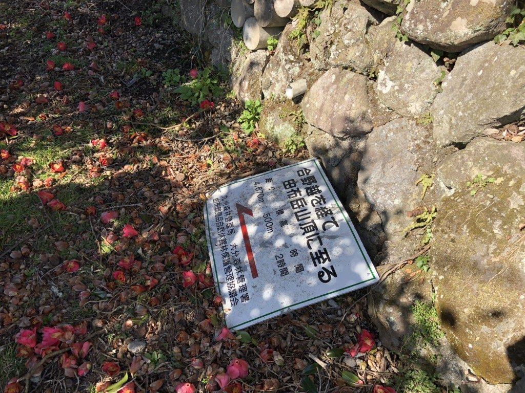 西登山口ルートの入口