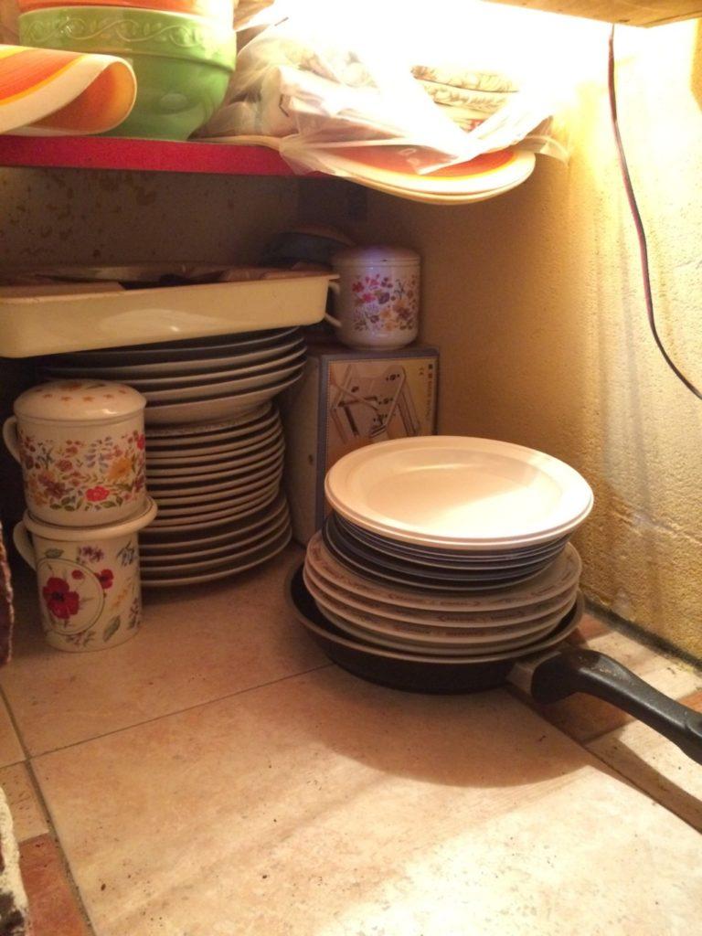 イタリアのキッチン収納