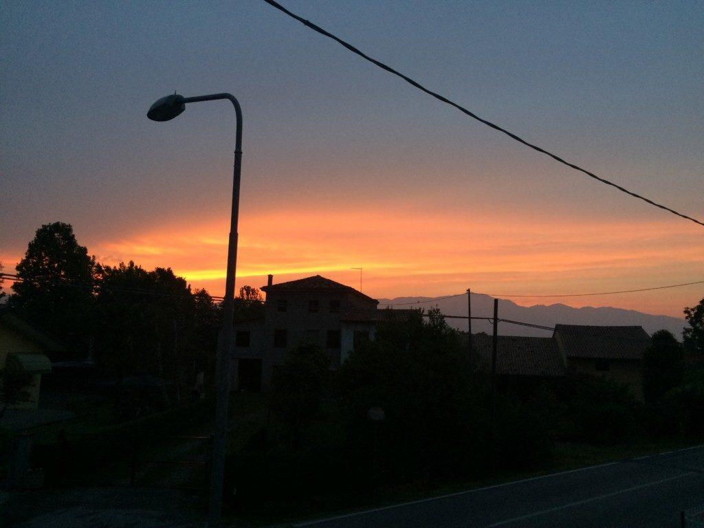 イタリアの夕焼け